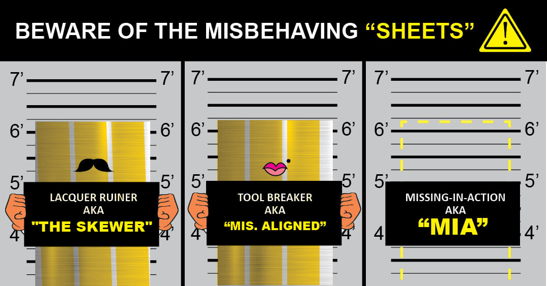 Misbehaving Sheets